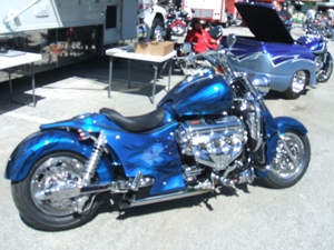 Motorcycle w/Big Block Chevy Engine